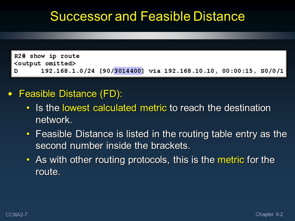 Successor and Feasible Distance