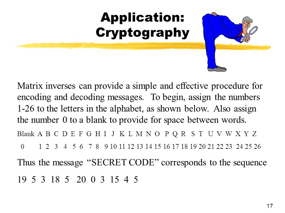 Application: Cryptography