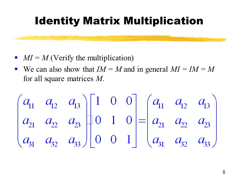 Identity Matrix Multiplication