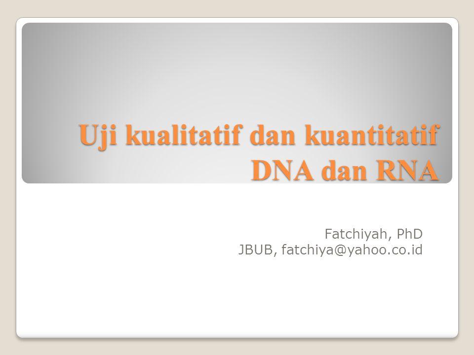 Uji kualitatif dan kuantitatif DNA dan RNA