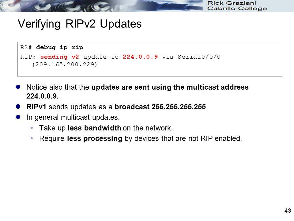 Verifying RIPv2 Updates