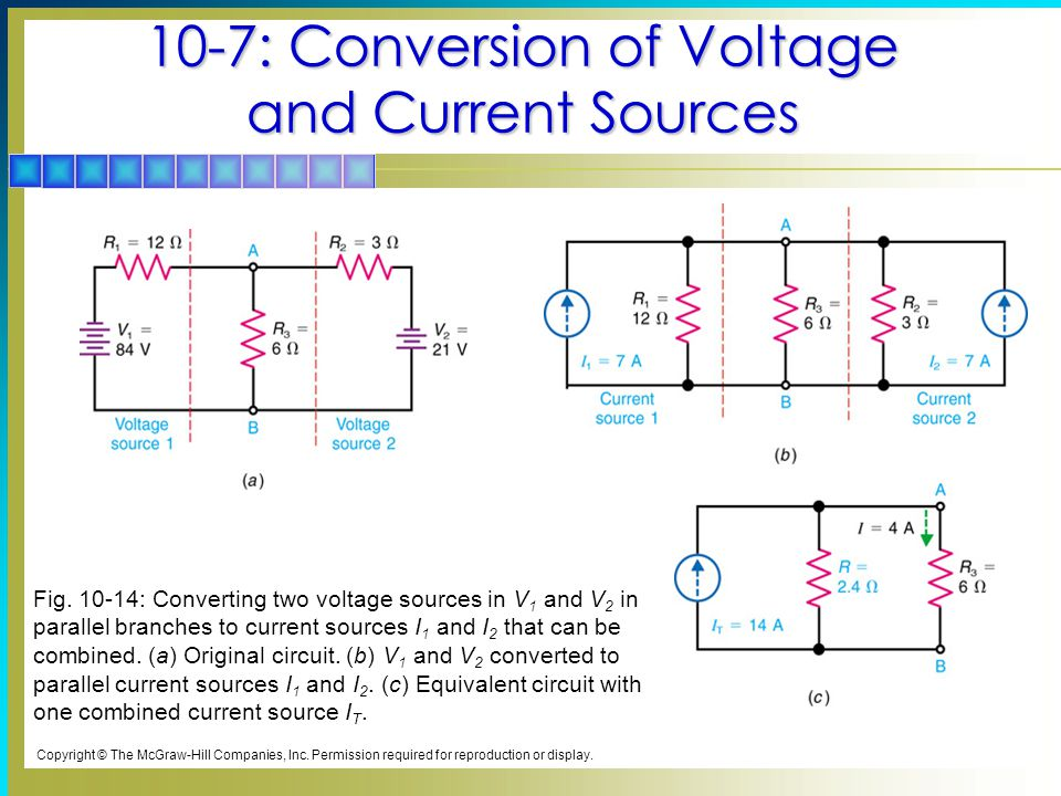 10-7: Conversion of Voltage and Current Sources