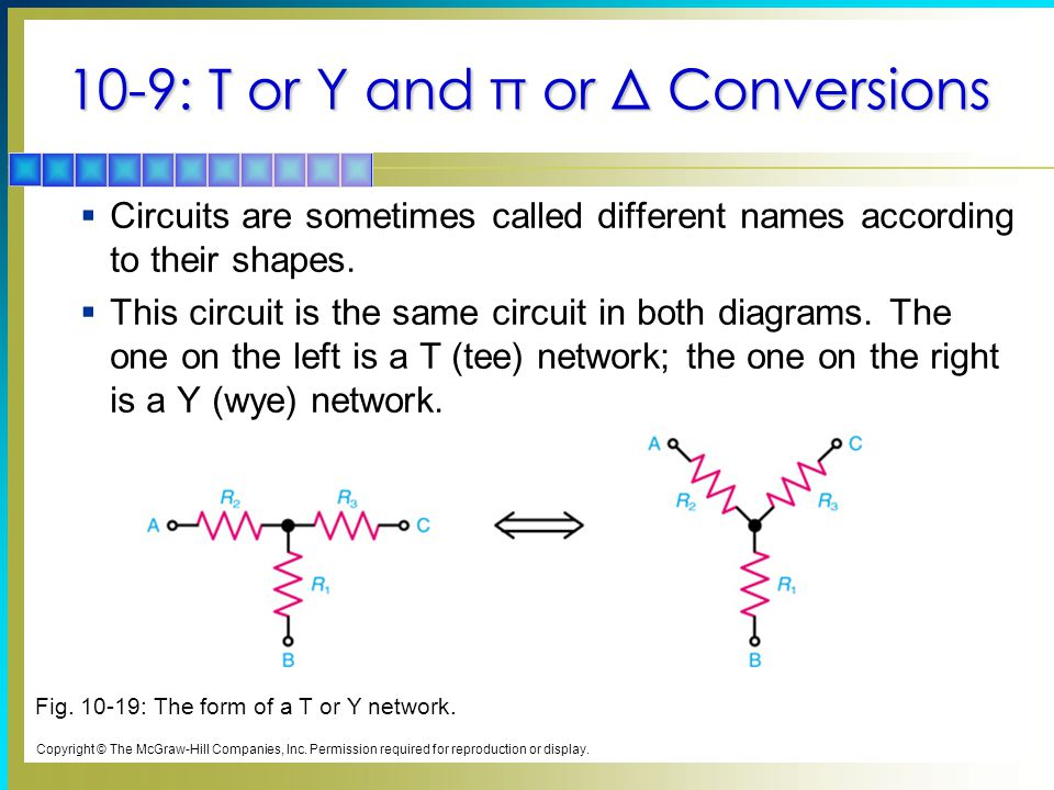 10-9: T or Y and π or Δ Conversions