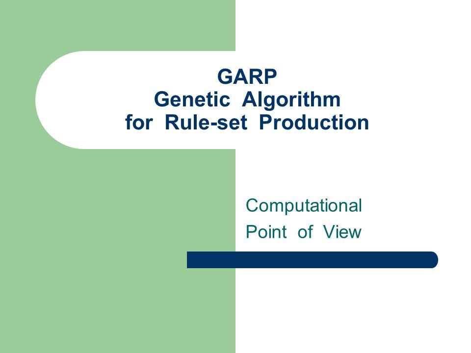 GARP Genetic Algorithm for Rule-set Production