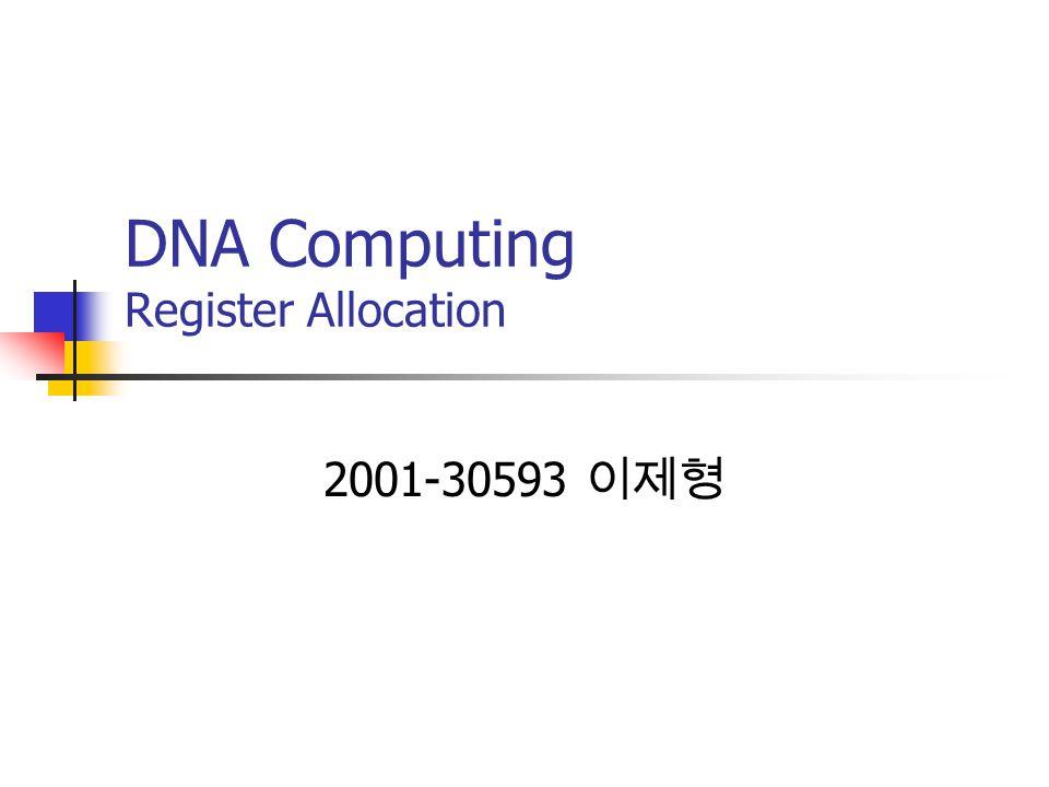 DNA Computing Register Allocation