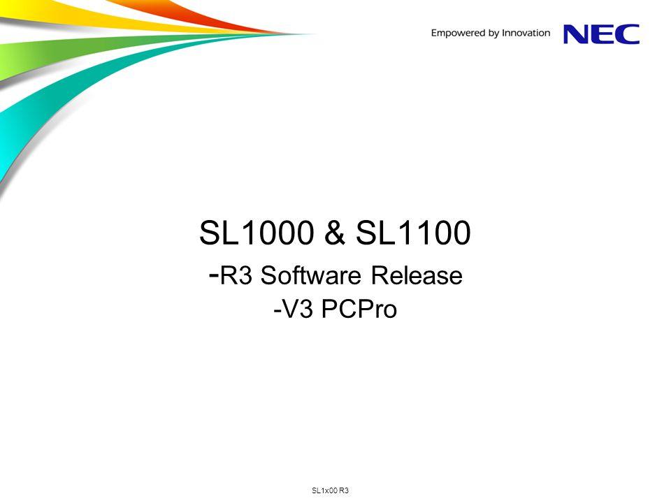 SL1000 & SL1100 -R3 Software Release -V3 PCPro