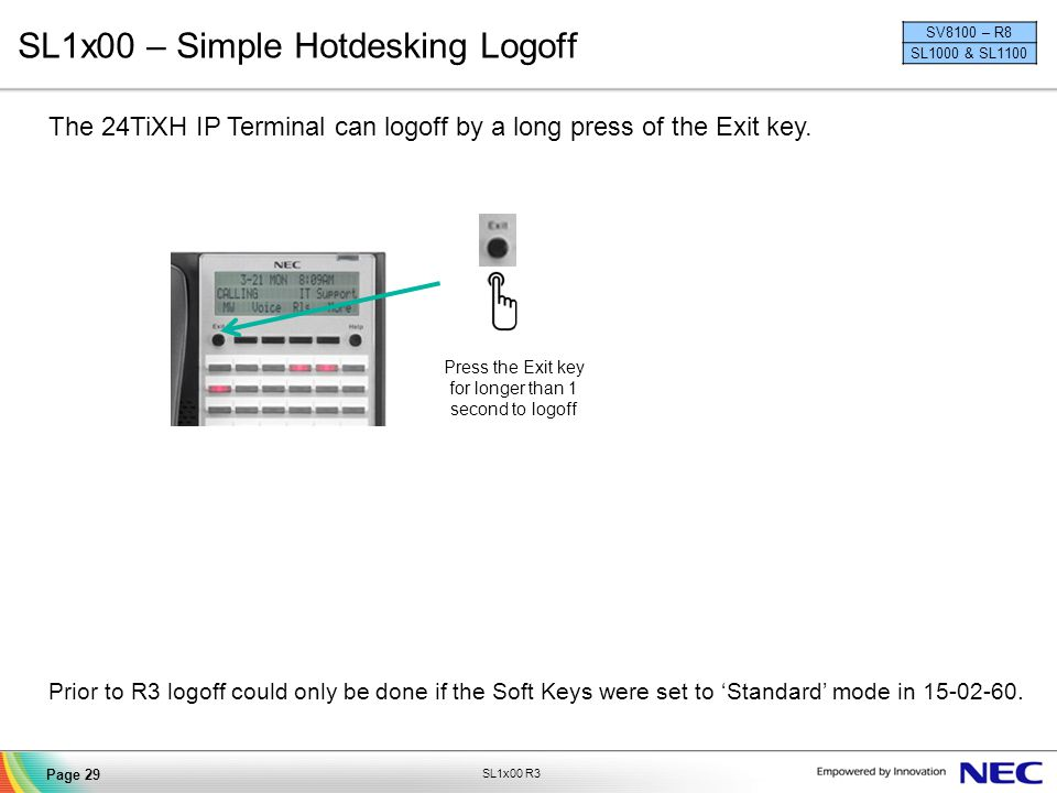SL1x00 – Simple Hotdesking Logoff