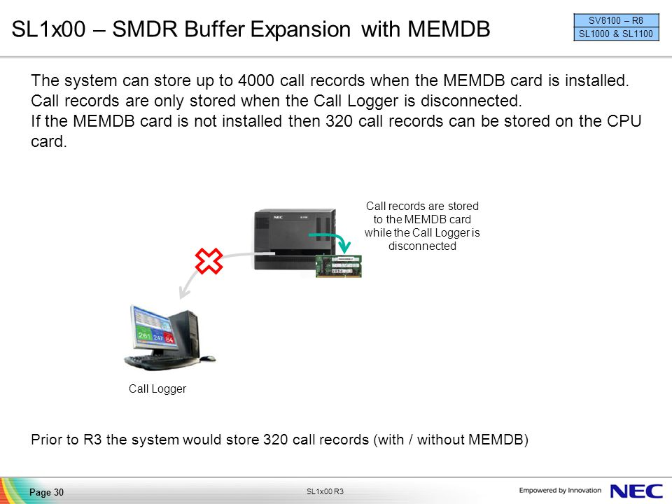 SL1x00 – SMDR Buffer Expansion with MEMDB