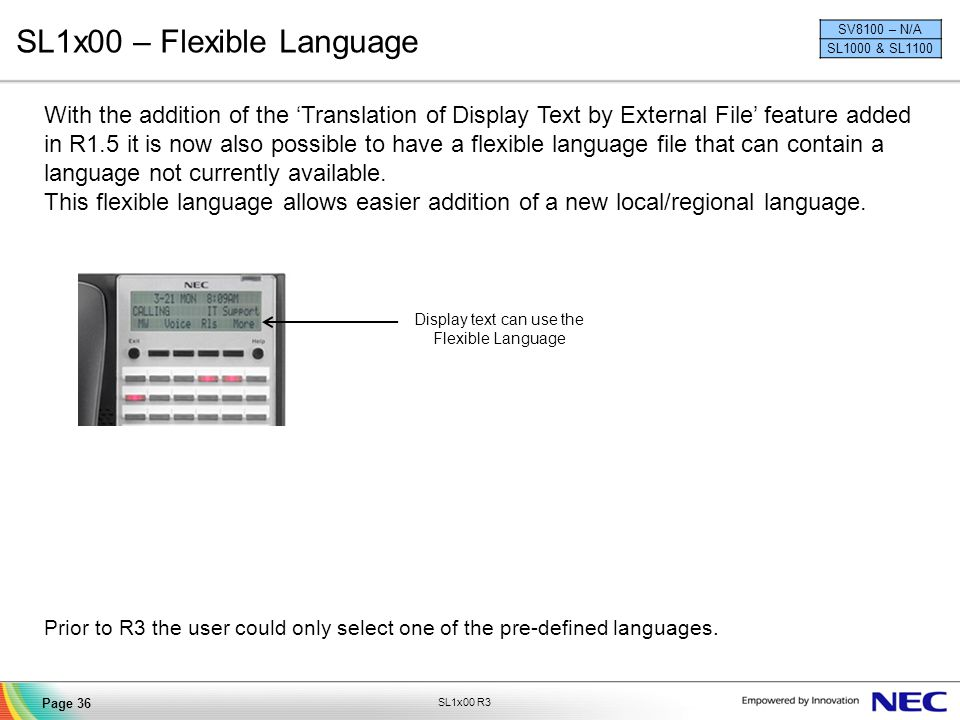 SL1x00 – Flexible Language