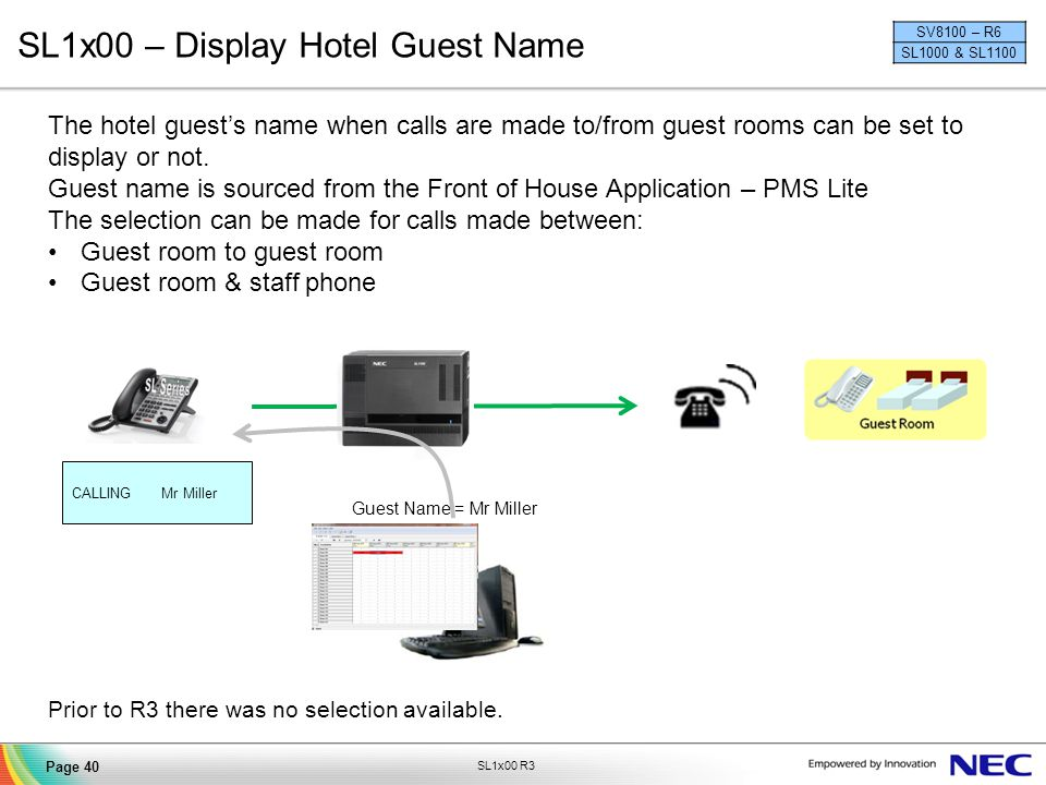 SL1x00 – Display Hotel Guest Name