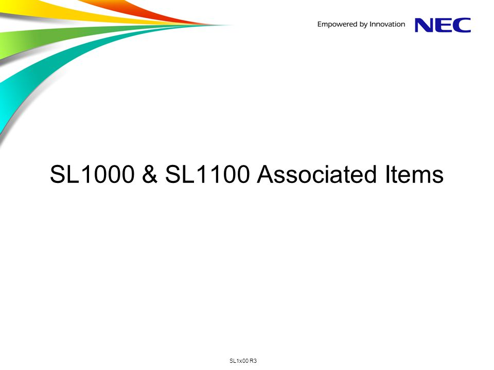 SL1000 & SL1100 Associated Items