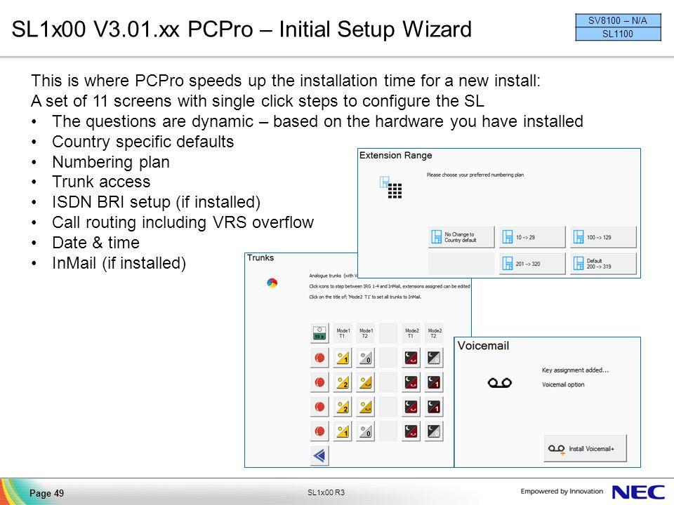 SL1x00 V3.01.xx PCPro – Initial Setup Wizard