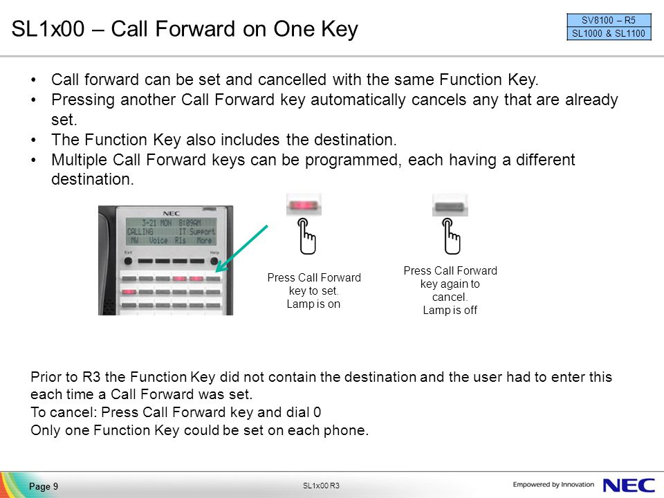 SL1x00 – Call Forward on One Key