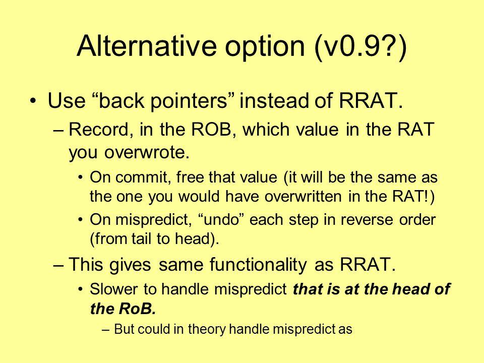 Alternative option (v0.9 )