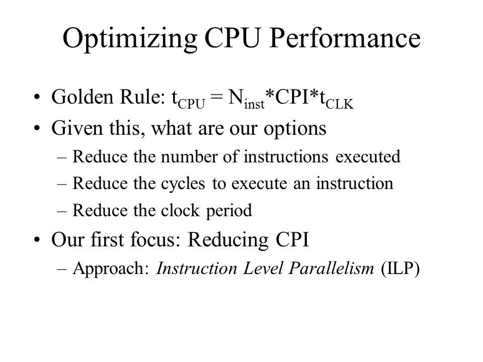 Optimizing CPU Performance