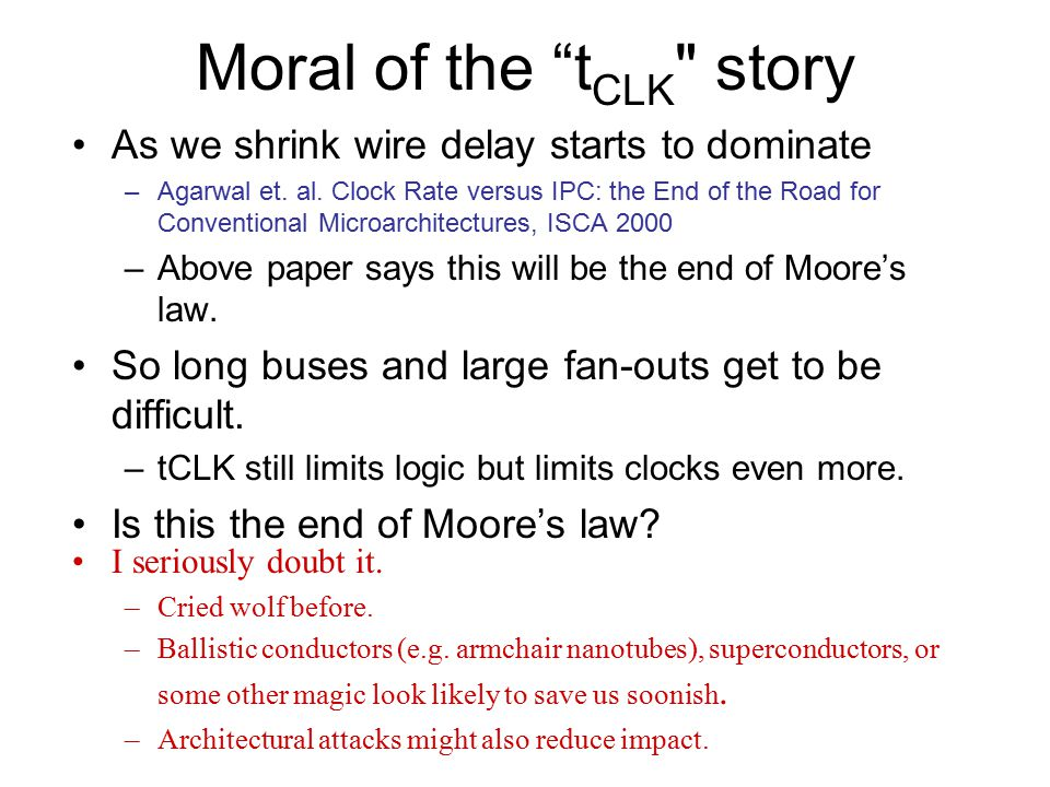 Moral of the tCLK story