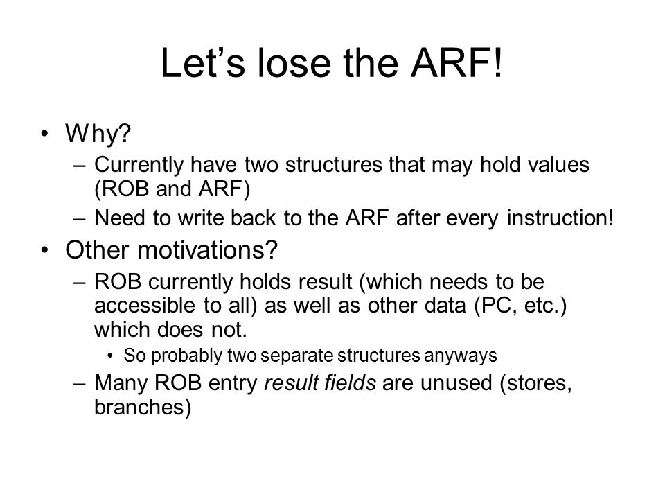 Let's lose the ARF! Why Other motivations