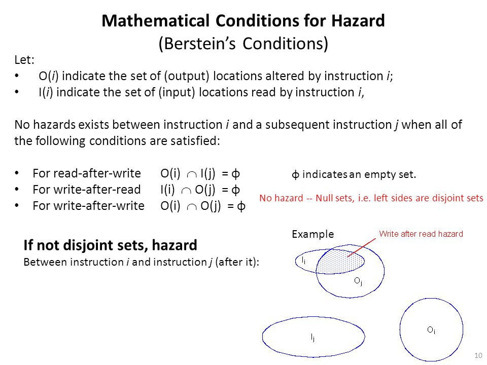 Mathematical Conditions for Hazard (Berstein's Conditions)