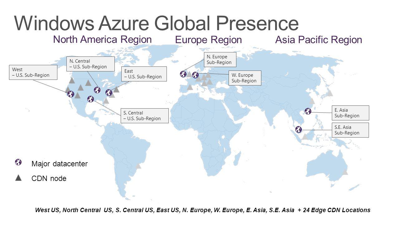 Windows Azure Global Presence