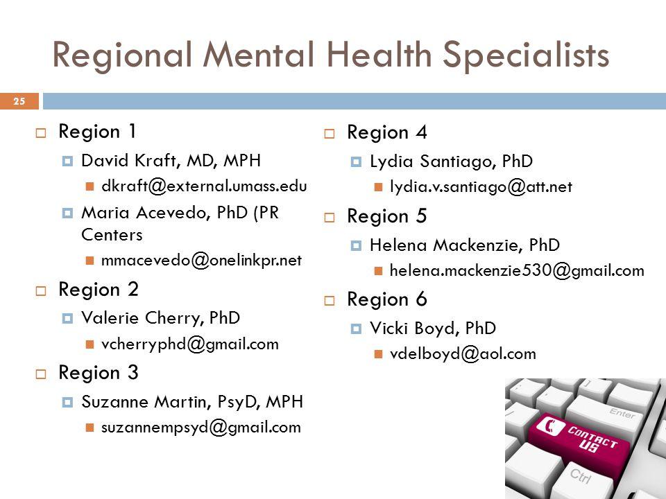 Regional Mental Health Specialists