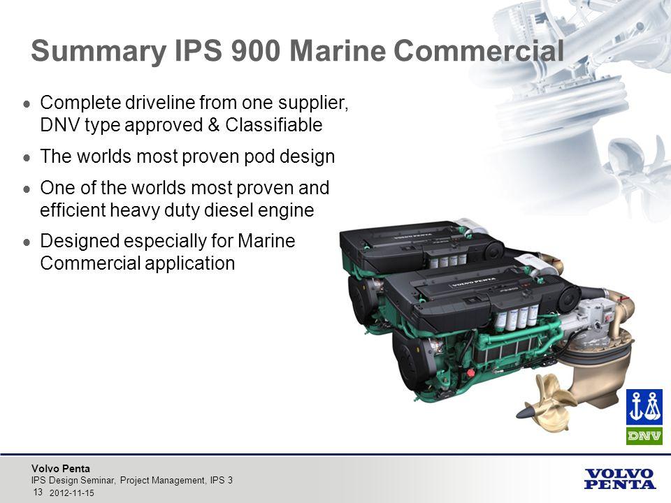 Summary IPS 900 Marine Commercial