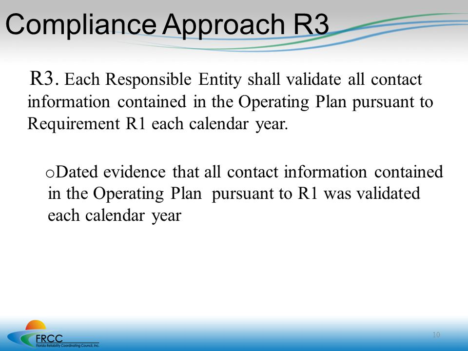 Compliance Approach R3