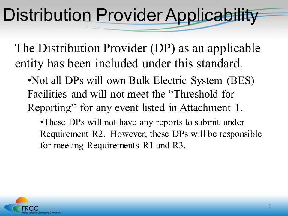 Distribution Provider Applicability