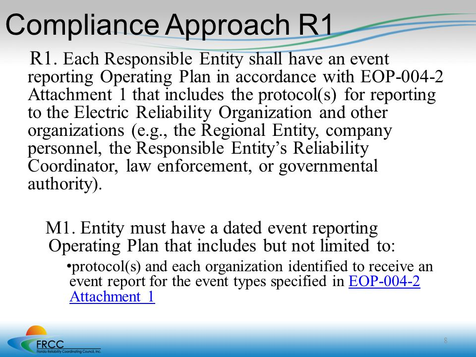 Compliance Approach R1