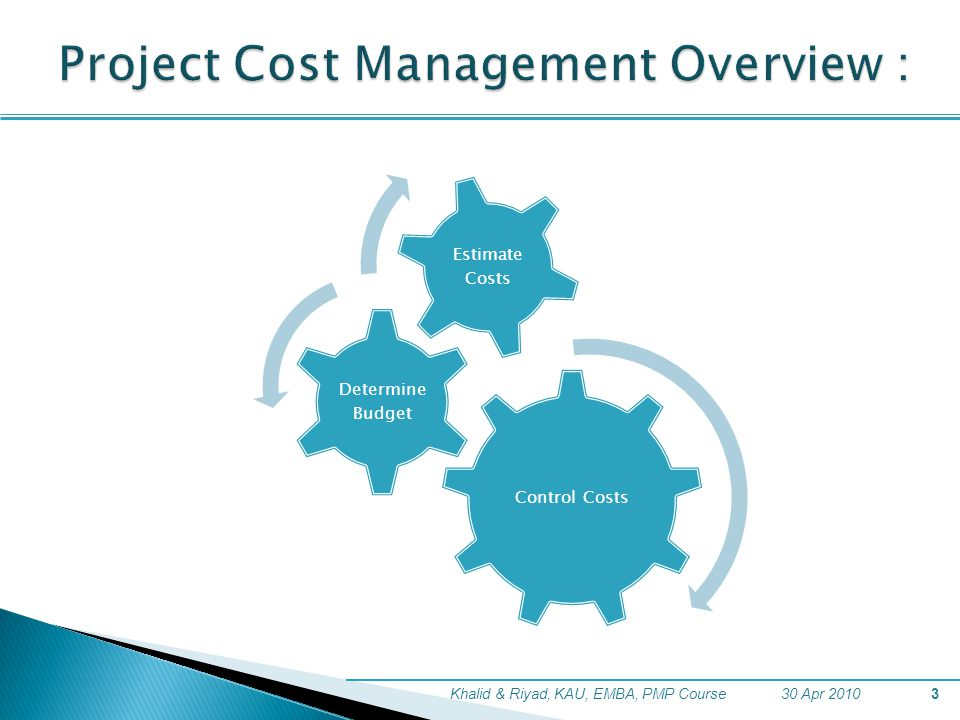 Project Cost Management Overview :