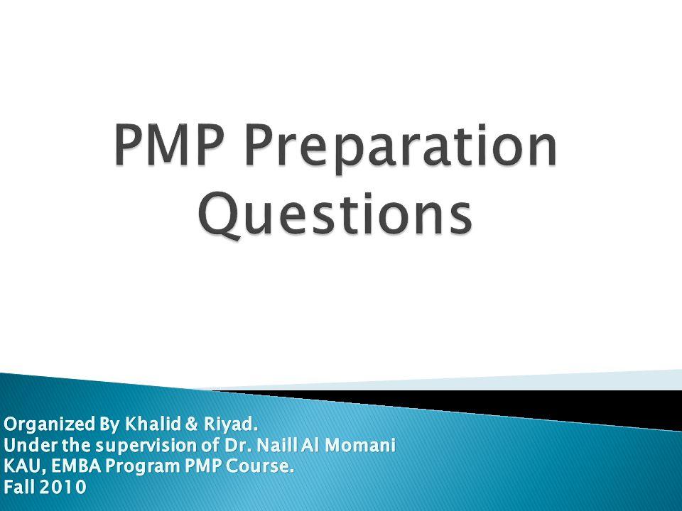 PMP Preparation Questions
