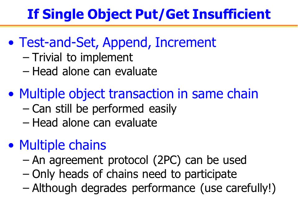 If Single Object Put/Get Insufficient