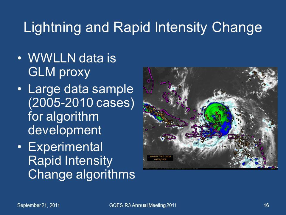 Lightning and Rapid Intensity Change