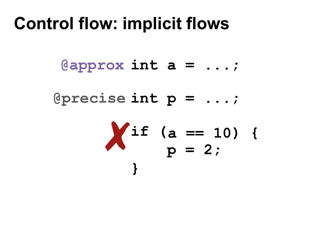 Control flow: implicit flows