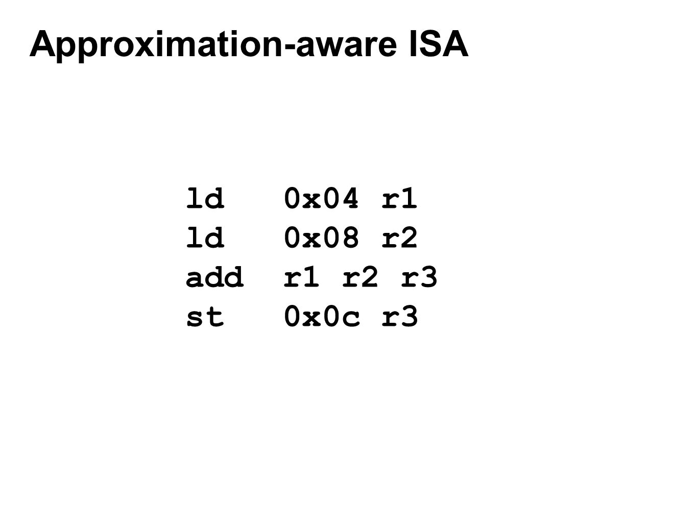 Approximation-aware ISA