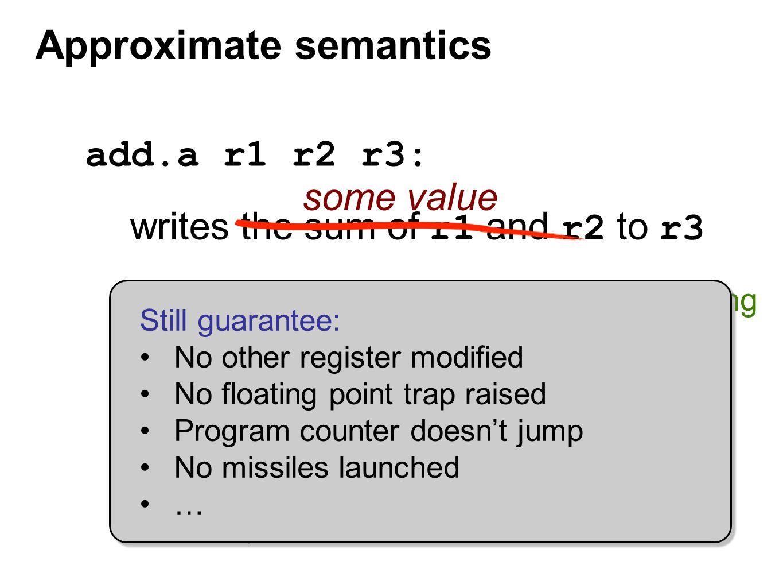 Approximate semantics