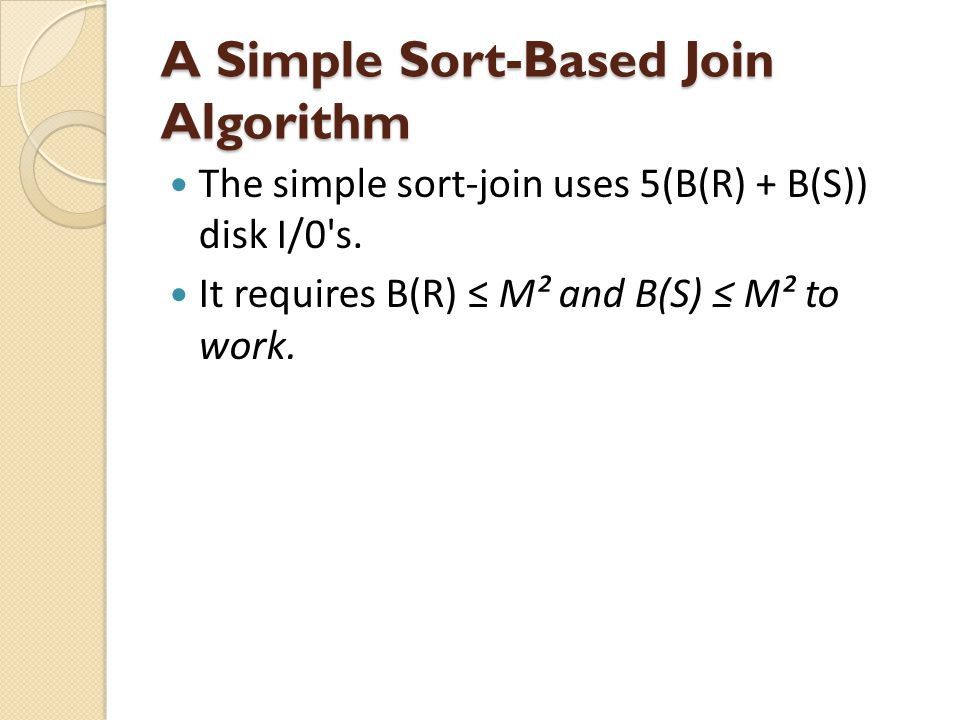 A Simple Sort-Based Join Algorithm