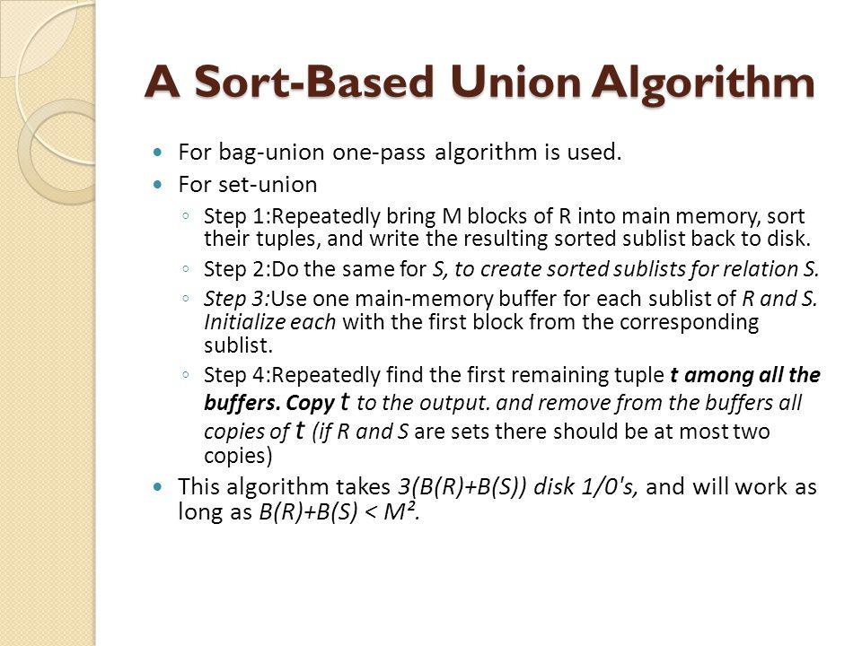 A Sort-Based Union Algorithm