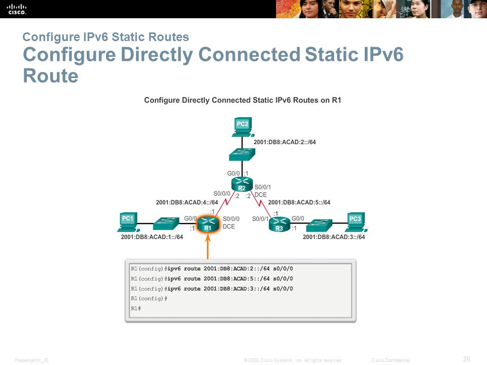 Configure IPv6 Static Routes Configure Directly Connected Static IPv6 Route