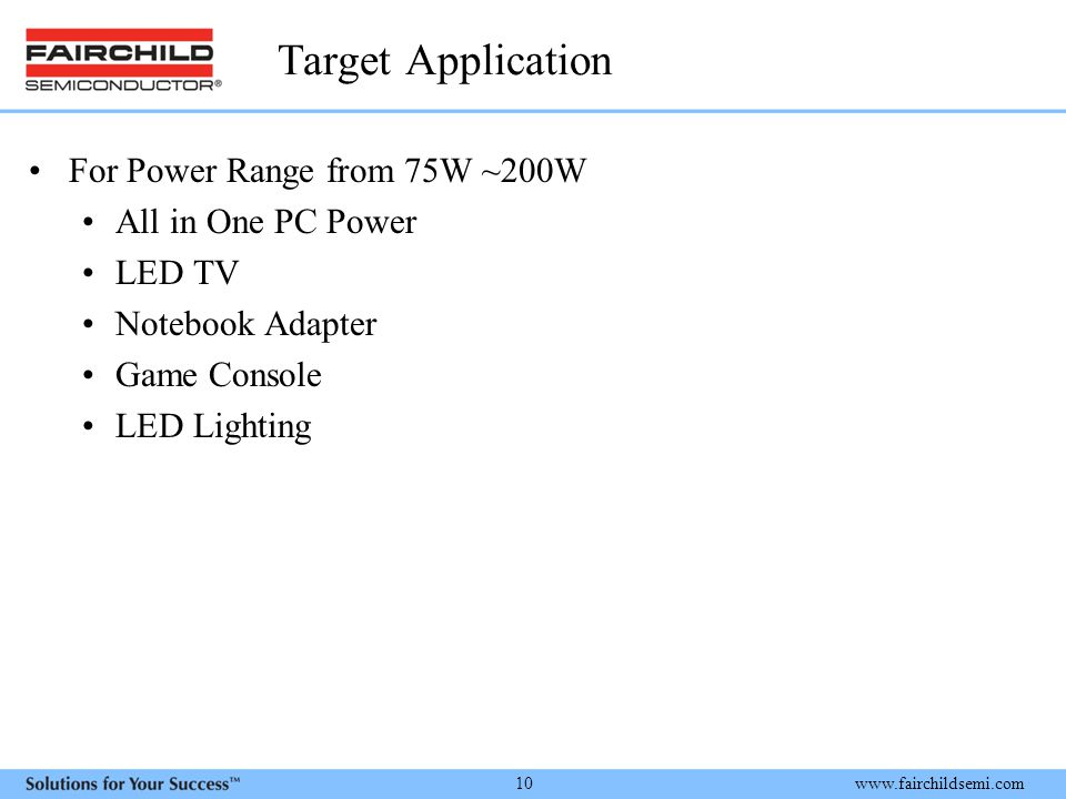 Target Application For Power Range from 75W ~200W All in One PC Power