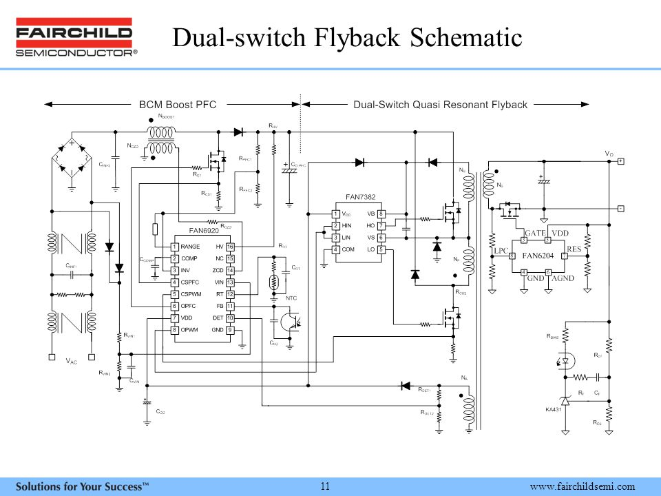 Dual-switch Flyback Schematic
