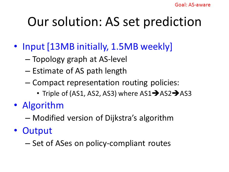 Our solution: AS set prediction