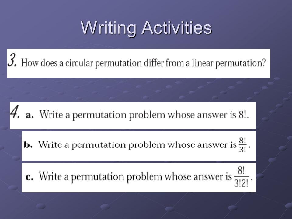 Writing Activities