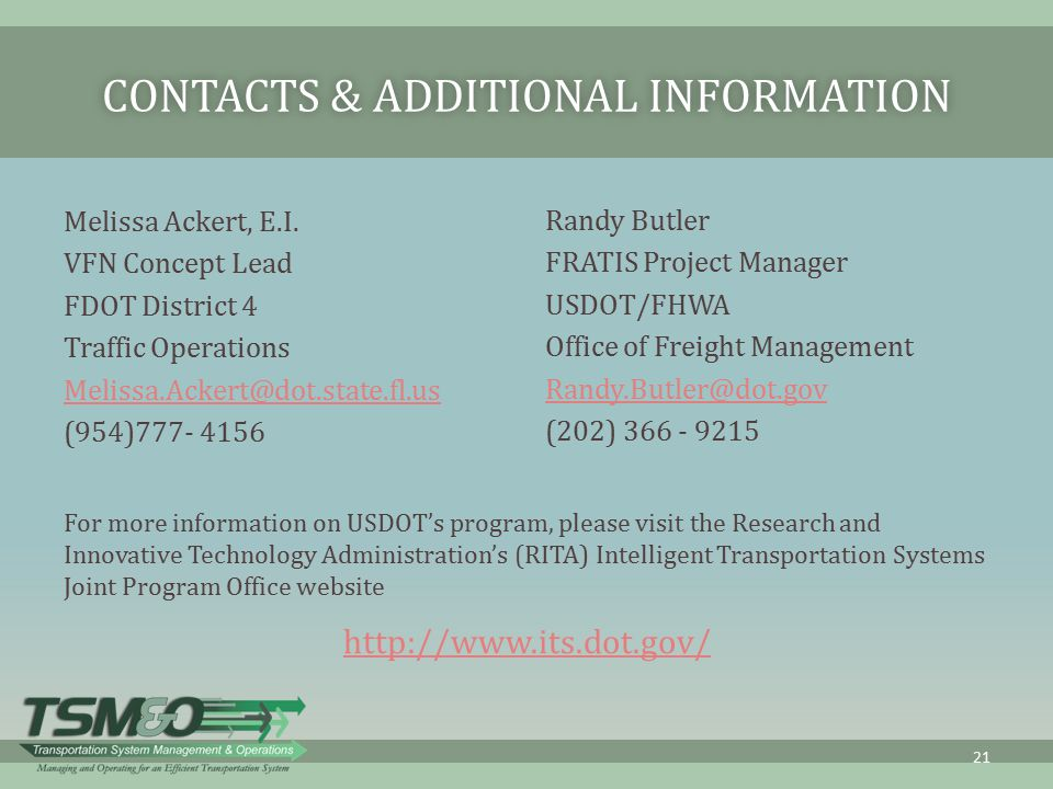 Contacts & Additional Information