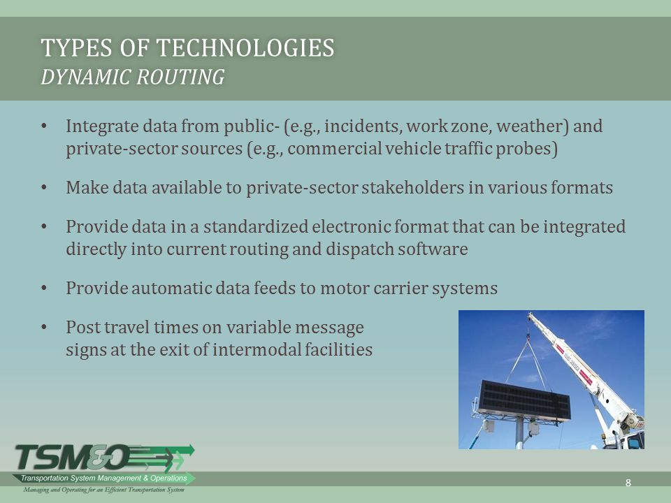 Types of Technologies Dynamic Routing