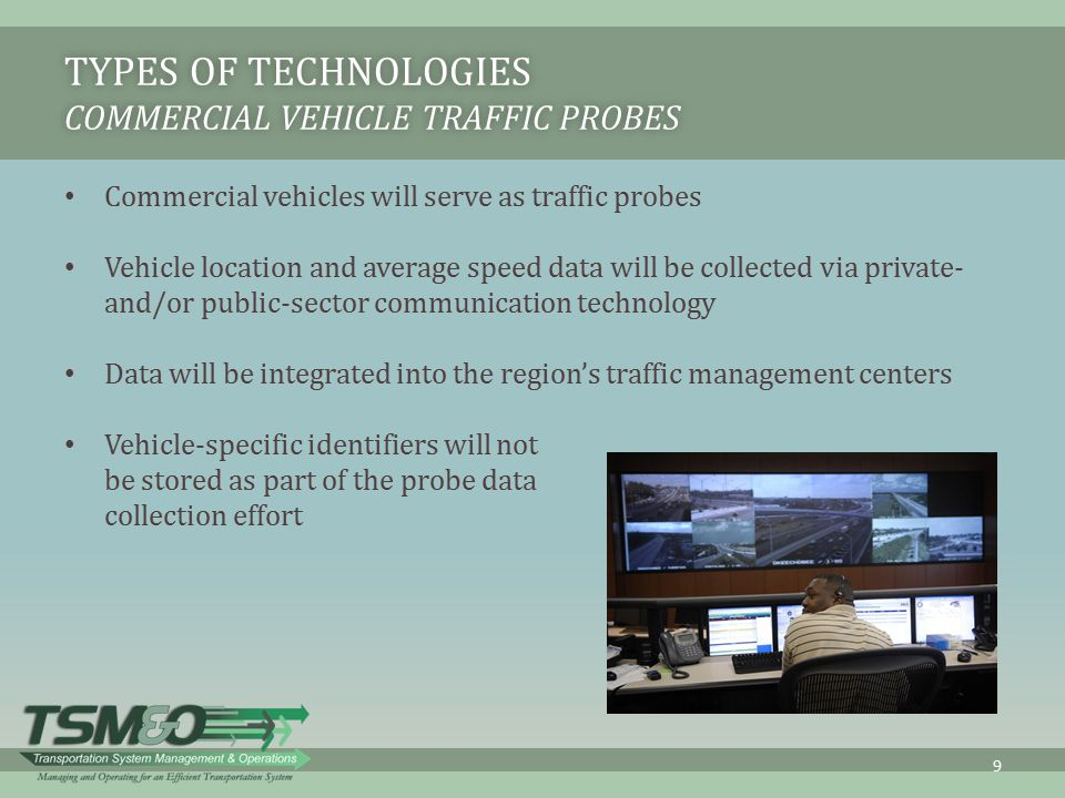 Types of Technologies Commercial Vehicle Traffic Probes
