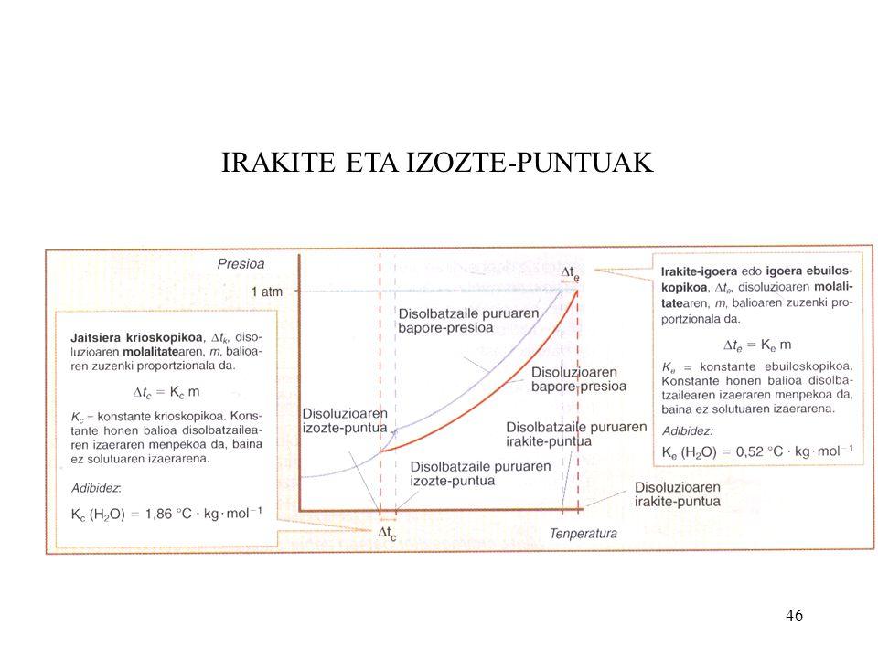 IRAKITE ETA IZOZTE-PUNTUAK