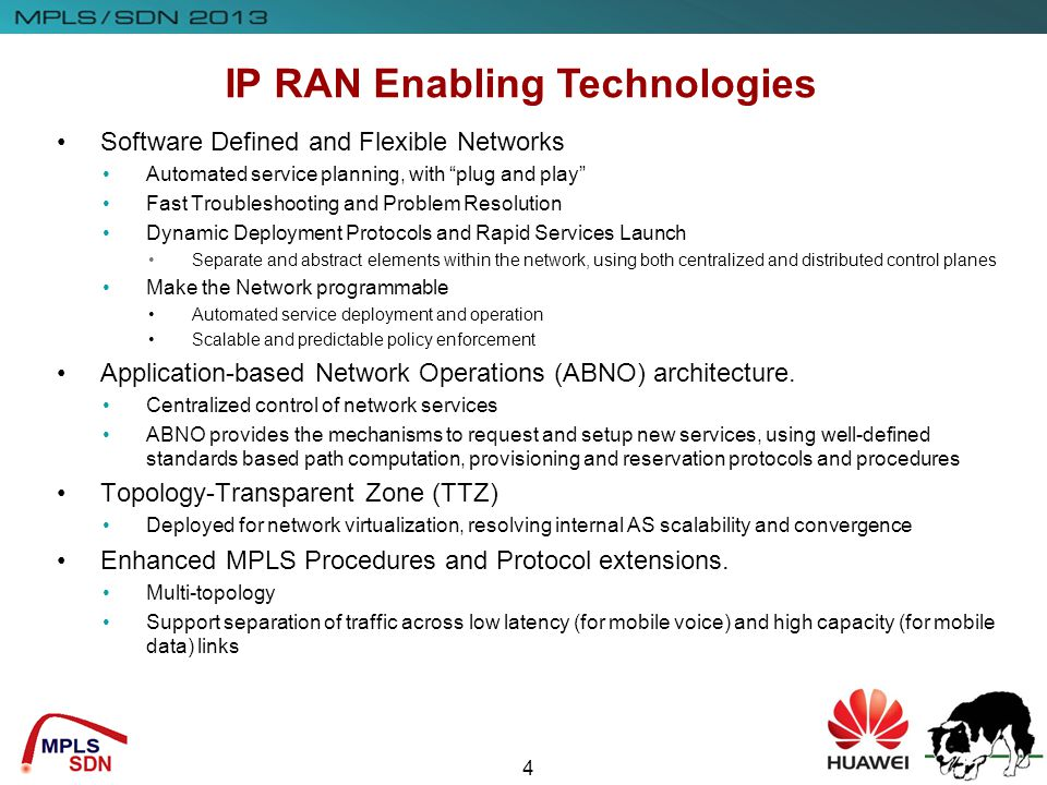 IP RAN Enabling Technologies