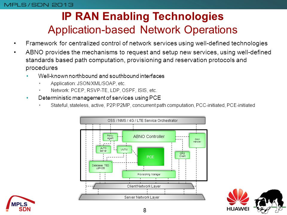 IP RAN Enabling Technologies Application-based Network Operations