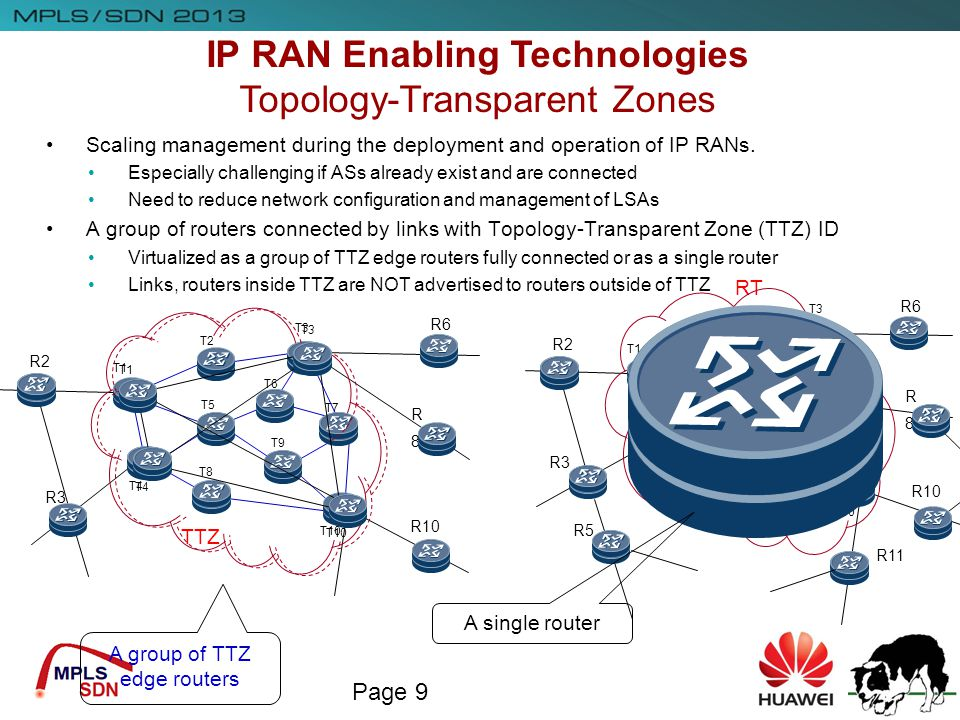 IP RAN Enabling Technologies Topology-Transparent Zones