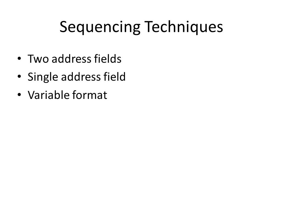 Sequencing Techniques